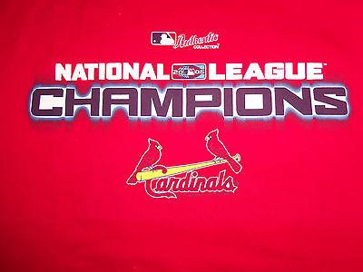 MLB St. Louis Cardinals Baseball 2006 NL Champions Red Graphic T Shirt - XXL