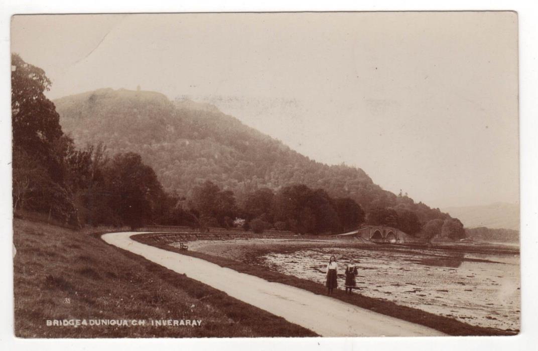 INVERARY SCOTLAND RPPC Real Photo Postcard LOCH FYNE UK Argyll Bute SCOT Bridge
