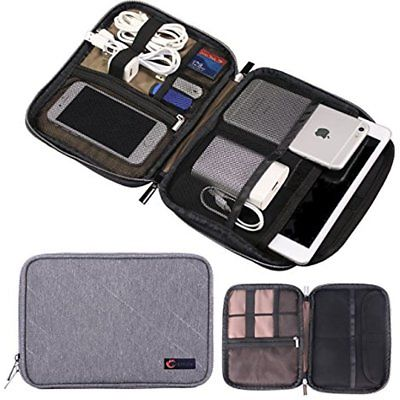 Universal Cable Organizer, Double Layer Travel Electronics Accessories Case For