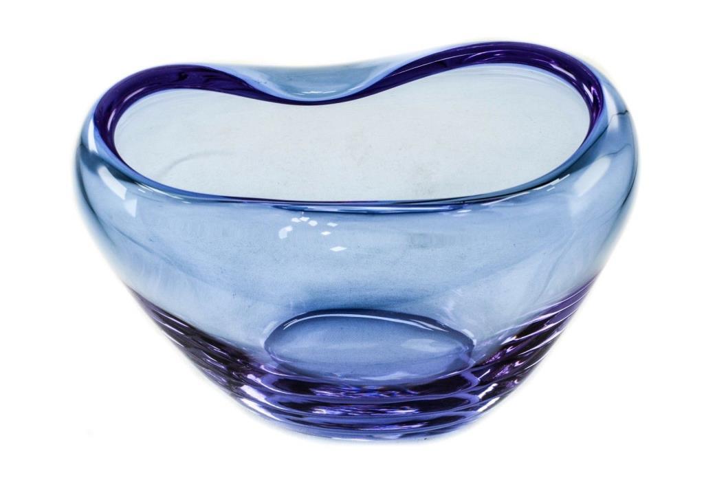 Vintage Alexandrite Neodymium Pinched Murano Art Glass Vase