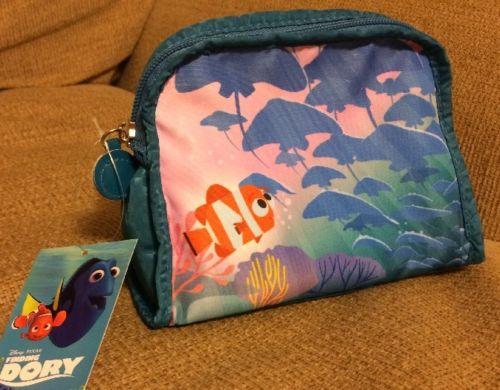 NEW Disney Pixar FINDING DORY NEMO Soho Small Cosmetic Makeup Bag Purse NWT HTF!