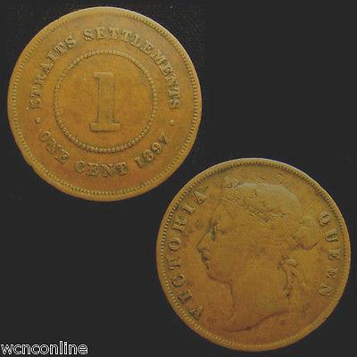 STRAITS SETTLEMENTS. VICTORIA. Copper 1 CENT 1897.