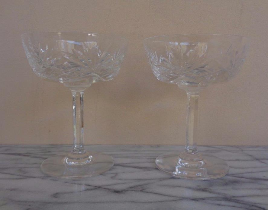 Lot 6 St. Louis Saint Louis Crystal Chantilly Clear Champagne Glasses Glass Set