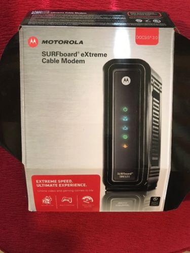Motorola SURFboard eXtreme SB6121 DOCSIS 3.0 Cable Modem in Original Box Black