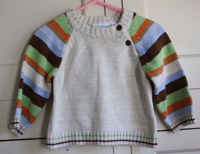 Baby Greendog Knit Sweater Fall Earth Tone Multi-Colored Size 12 Months