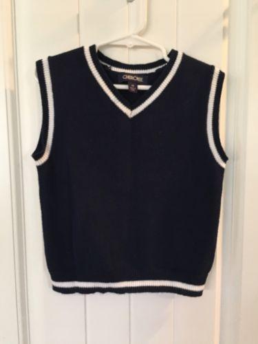 Boy's Navy Blue Size 3T Sweater Vest Christmas Knit 3 Toddler Cherokee