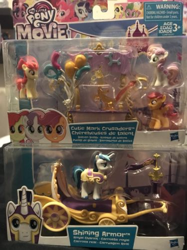 My Little Pony The Movie Shining Armor Royal Chariot and Cutie Mark Crusaders
