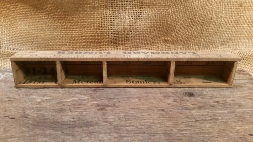 Vintage Handmade wooden ruler Knick knack /Thimble holder decor 10 inch