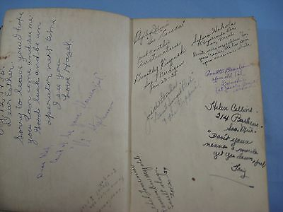 1934 Vtg. Rainbow System Of Beauty Culture 4th Edition Book Classmate Autographs