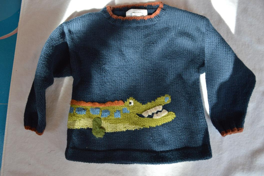 And then there was Jake Toddler Boy sweater 4t Navy Blue Green Alligator