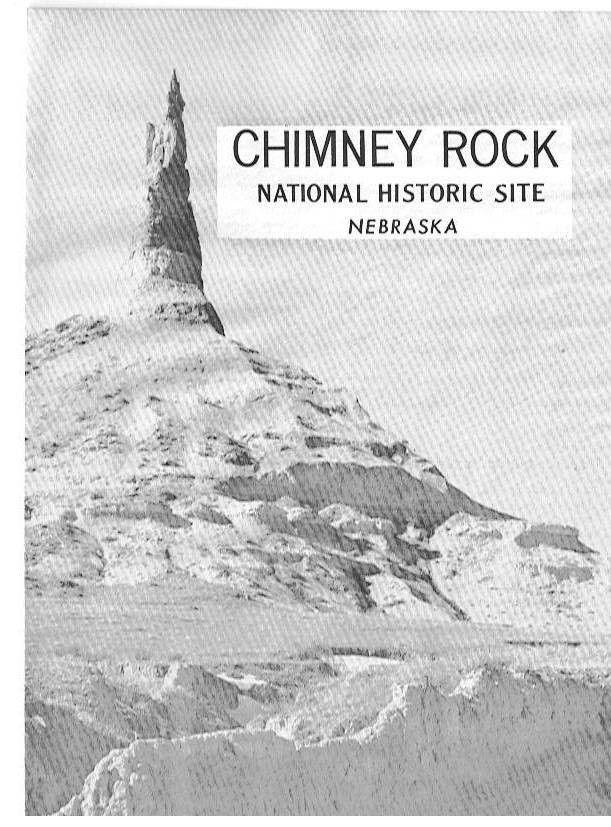 1958 Travel brochure Chimney Rock Nebraska