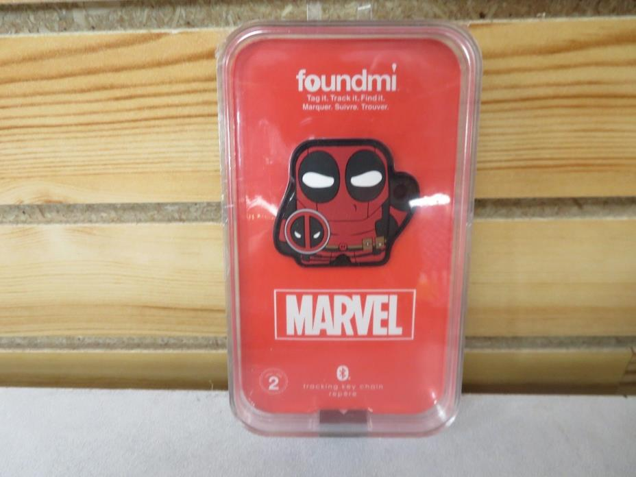 New DEADPOOL Foundmi Bluetooth App Enabled Tracking Tag Keychain Marvel