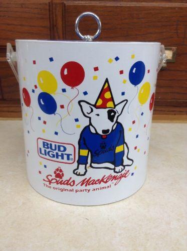 Vintage Budweiser Spuds Mackenzie Bud Light Ice Bucket
