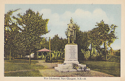 War Memorial, WW1 1914-1918. New Glasgow, NS. Circa 1920 Postcard