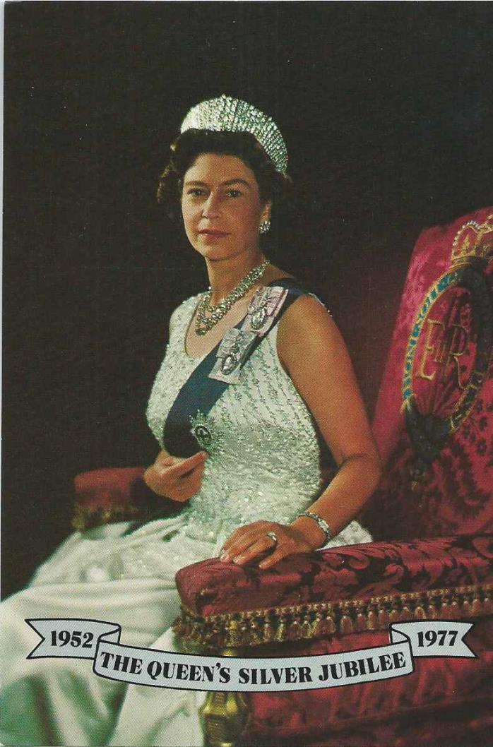 United Kingdom - Queen Elizabeth II, 1952-1977 Silver Jubilee Postcard