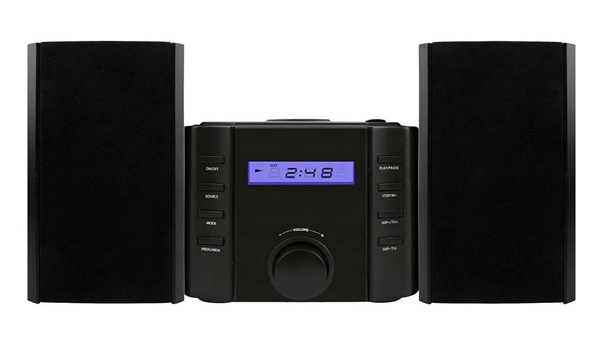 Bluetooth Stereo Unit System Speakers Music Digital Clock Sound MP3 DVD CD Small