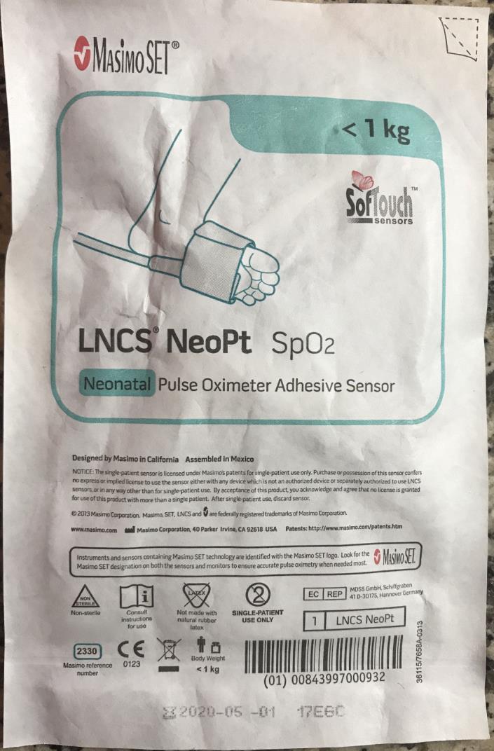 Masimo LNCS NeoPt SpO2 sensors (20 sensors) Exp. 2020