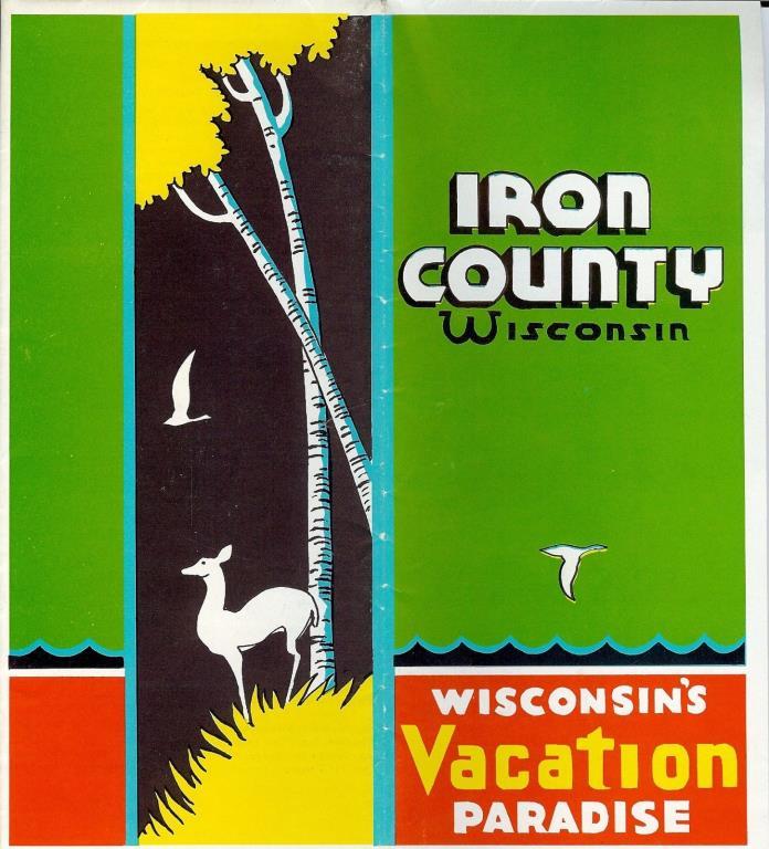 Iron County Wisconsin brochure 1950s Hurley Flambeau Flowage