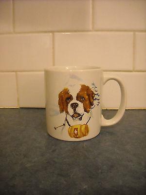 VINTAGE COFFEE TEA MUG ST. SAINT BERNARD DOG HEAD PORTRAIT BEAUTIFUL LARGE