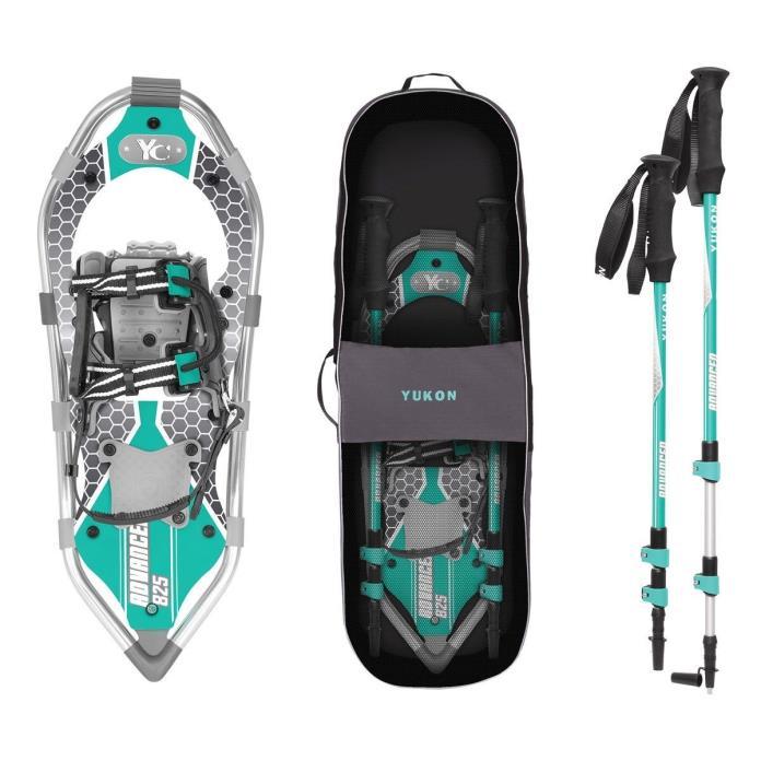 Yukon Charlie's Women's Advanced Series Snowshoe Aqua 8x25 Adventure Kit