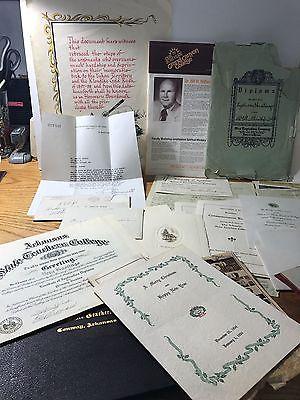 VEGAS ESTATE BLOWOUT: Vintage School Certificates, Diplomas Records MORE 20-152