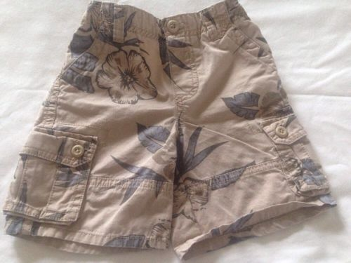 Toddler Boys Koala Kids Cargo Shorts size 24 months Hawaiian Print Summer