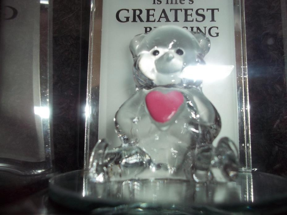 glass teddy bear trinket mirror The Love of family is the greatest blessing