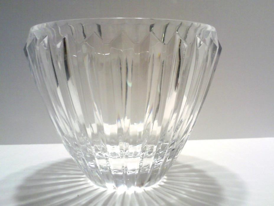 BOHEMIA CZECH REPUBLIC LEAD CRYSTAL 24%+ BOWL ICE BUCKET/WINE COOLER