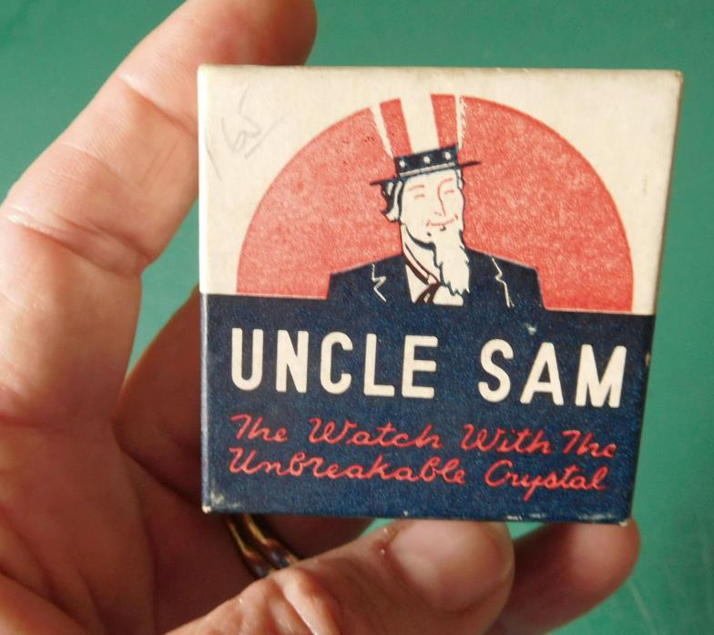 Vintage UNCLE SAM Pocket Watch Box only