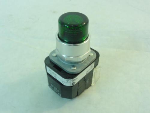 168990 New-No Box, Allen-Bradley 800T-PB16G Illuminated Pushbutton, 120V