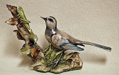 Rare ANTONIO BORSATO Italian Art Pottery Bird Hunting Grasshopper Figurine ITALY