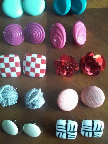 Lot Of Ten Post Pierced Earrings