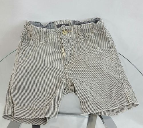 H&M Boy's Black and White Striped Shorts  size 1.5-2Y with Adjustable Waist!
