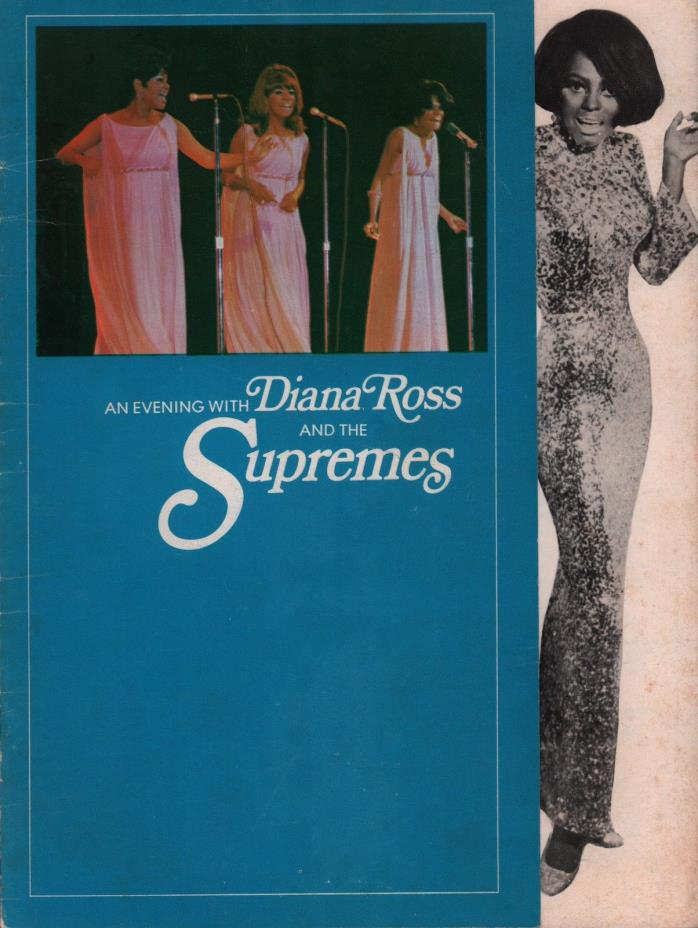 DIANA ROSS AND THE SUPREMES 1968 LOVE CHILD TOUR CONCERT PROGRAM BOOK / VG 2 EX