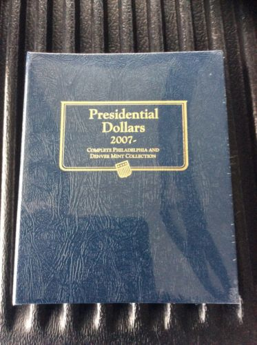 Whitman Classic Coin Album 2227 Presidential Dollars 2007-2016 P & D Mints NEW