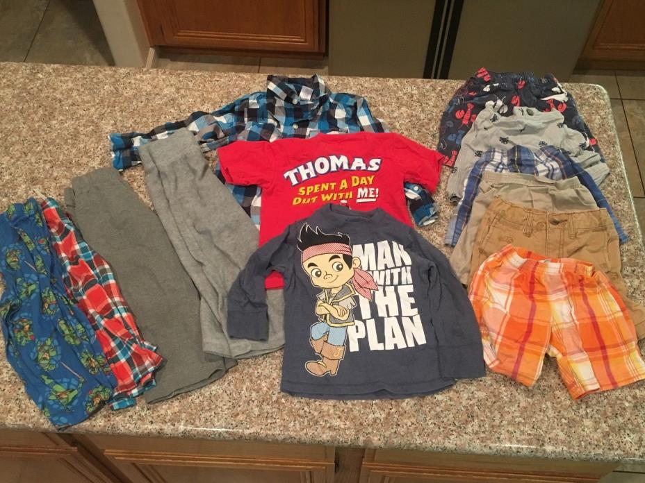 x13 Piece Lot Baby Boy's Toddler Clothes Shirts Shorts 3T