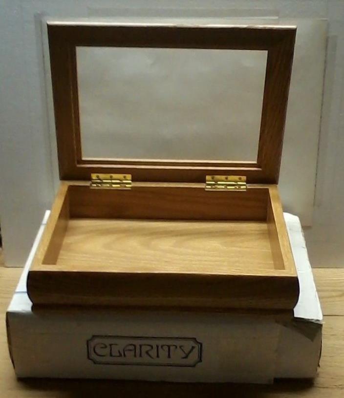 Clarity Oak Trinket Jewelry Box