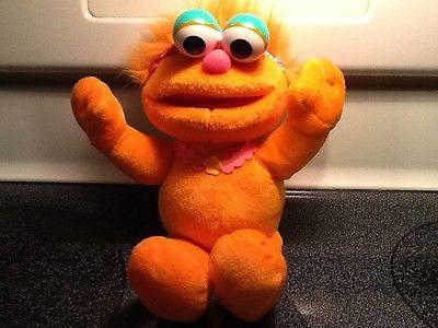 2001 MATTEL Sesame Street ZOE Elmo Friendly Monster Orange Plush 12