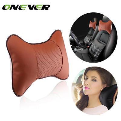 1Pcs Car Neck Pillow PU Leather Seat Car Seat Head Neck Rest Headrest Car Rest C