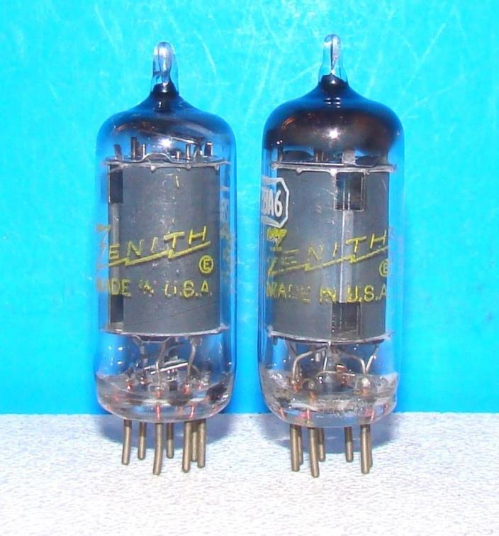 12BA6 AA5 Zenith radio 2 vintage amplifier vacuum tubes valves tested electron