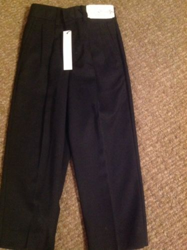 Perry Ellis Boy Size 4T Black Pleated Dress Pant NWT