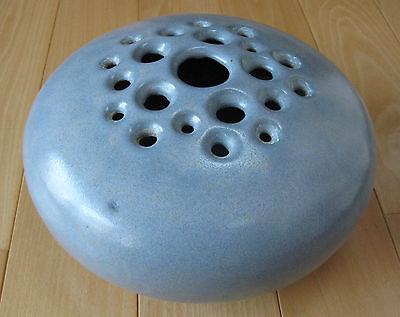 Vintage Modern Art Pottery; Giannotti Flower Frog Vase 002112