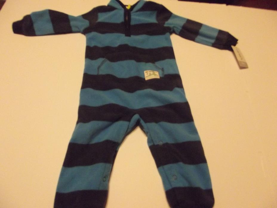 nay carter's sleepwear boy size 18 months 100% polyester long sleeve