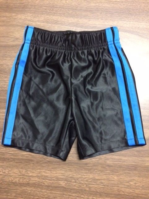 Wonderkids Infant Boy's Black with Blue Stripe Athletic Shorts NWOT 18 mos