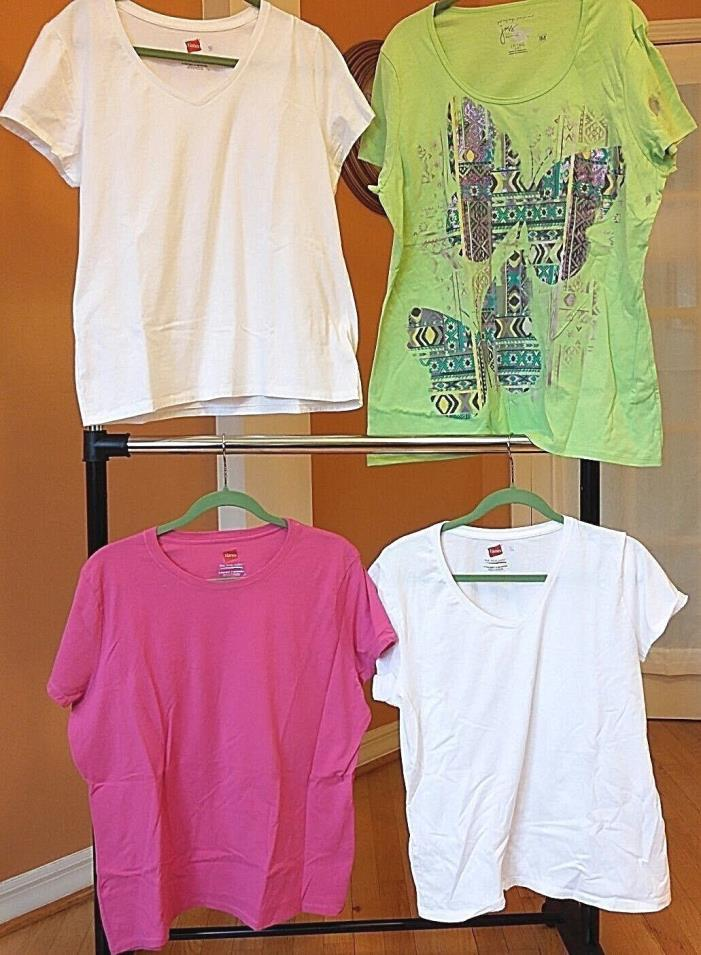Hanes Women's T-Shirts Size XL Just My Size Set of 4   EXCELLENT VALUE