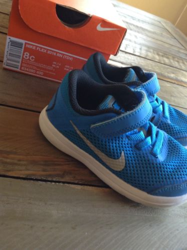 Nike Flex 2016 RN (TDV) Toddler Size 8c Blue Nike Shoes