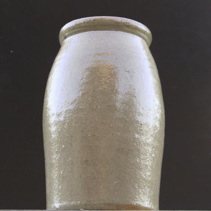 Antique Salt Glaze Crock VTG Stoneware Farmhouse Decor Primitive Rustic 1/2 gal.