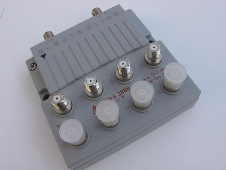 Electroline EDA 2800 8-Port RF/CATV Amplifier