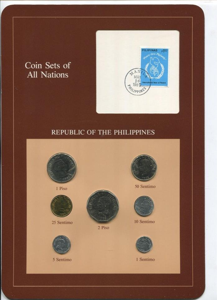 Philippines 7 Coins Coin Sets of All Nations Original Cache w/Info Card #2