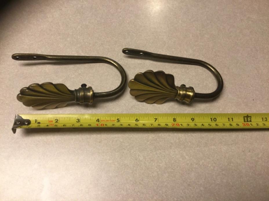 Antique Brass Color Drapery Tie Backs